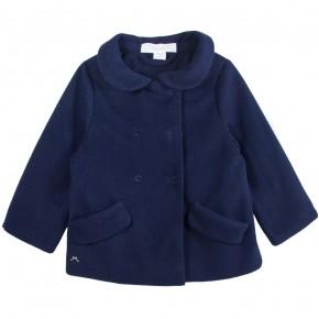 Manteau en suède bleu marine