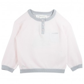 Pink Sweater with rabbit appliqué