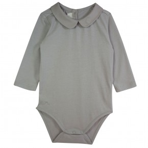 Grey Unisex Bodysuit in organic cotton