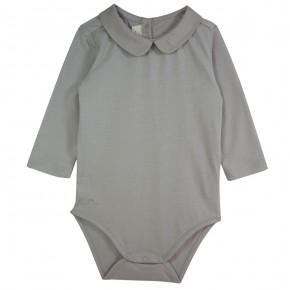 Grey Unisex Bodysuit in organic cotton