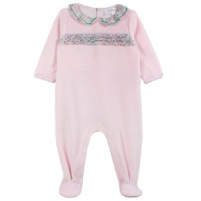 Pyjama bébé fille en Liberty rose