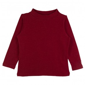 Girl Turtle Neck Top in Red