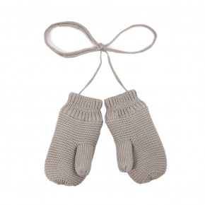 Knit Mittens in Taupe