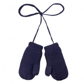 Knit Mittens in Navy