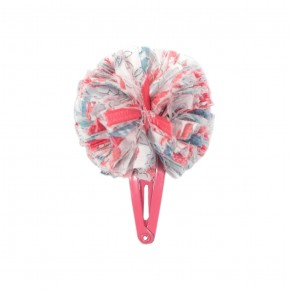 Hair Clip in Coral Liberty