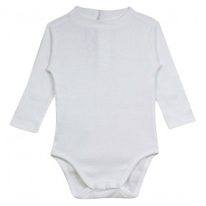 Baby Boy Bodysuit in White
