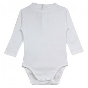 Baby Boy Bodysuit in White