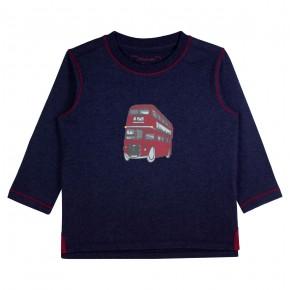 T-shirt bleu marine garçon avec appliqué