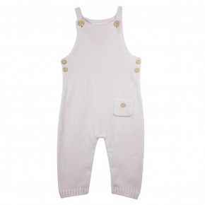 Baby Girl Knitted Overall Pink
