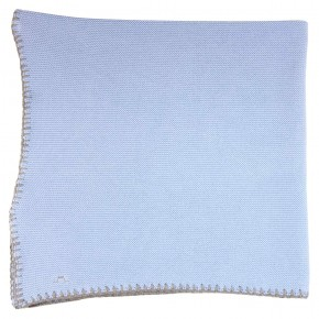 Baby boy knitted blanket
