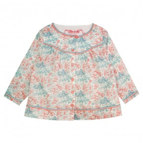 Girl Blouse in Coral Liberty