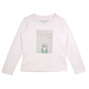 Girl Pink Top with Doodle Print