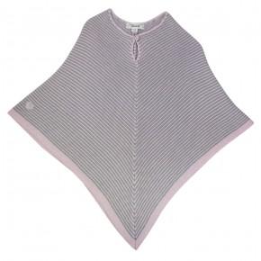 Girl Stripes Poncho in Pink