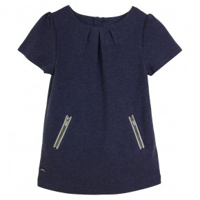 Girl Navy Dress with zippers