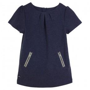 Robe bleue marine à zippers
