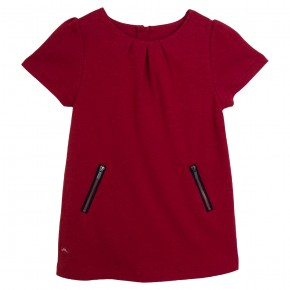Girl Red Dress with zippers