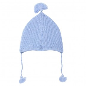 Baby boy blue knitted hat