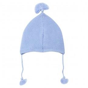 Bonnet Bébé Garçon en Maille Bleue
