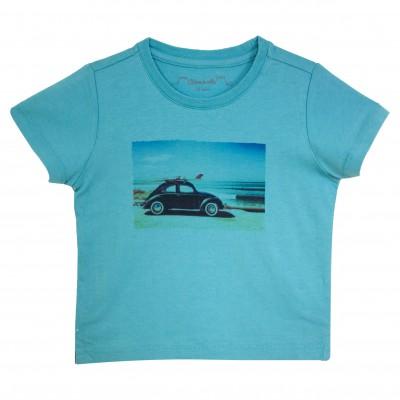 Boy Turquoise Print Tee-Shirt