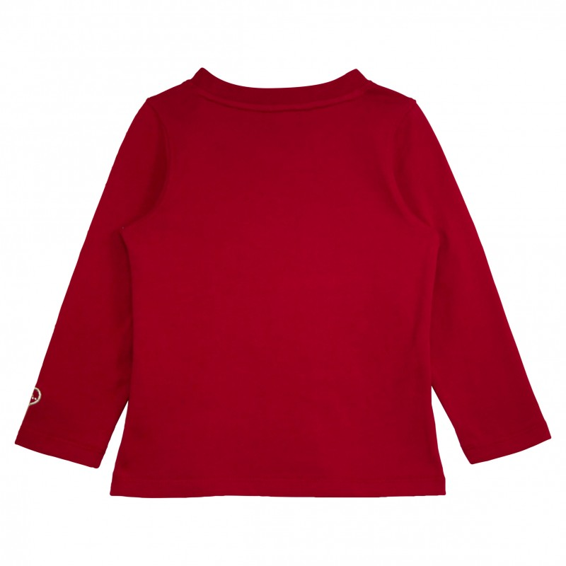 Girl Red T Shirt With Dog Appliqu
