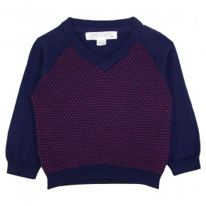 Sweater Boy V-neck Red and Navy
