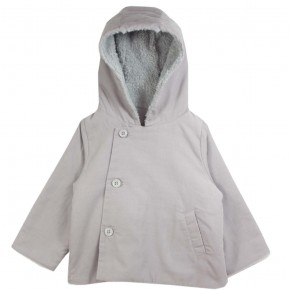 Girl Hooded Jacket Grey