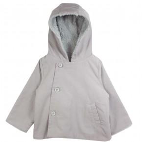 Girl Hooded Jacket Grey