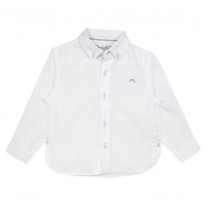 Basic Boy Shirt Long Sleeves White