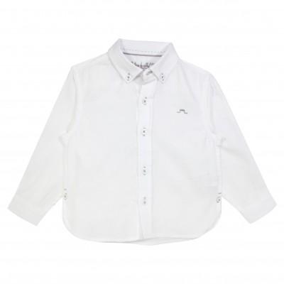 Basic Boy Shirt Long Sleeves White
