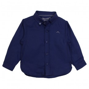 Basic Boy Shirt Long Sleeves Navy