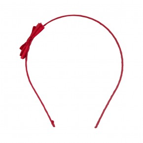 Satin Hairband Red