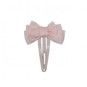 Satin Hair Clip Pink