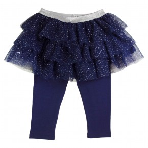 Girl Leggings with Navy Tutu