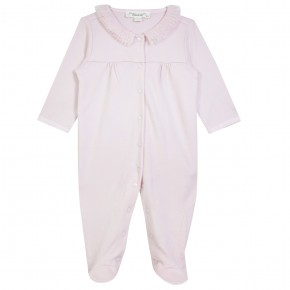 Baby Girl Pink Pajamas with tulle collar