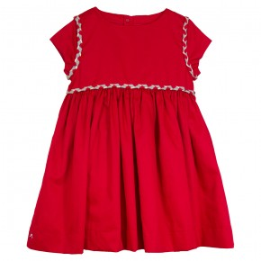 Red Dress with Braided Details