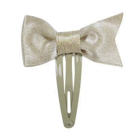 Girl Hair Clip Champagne with Bow