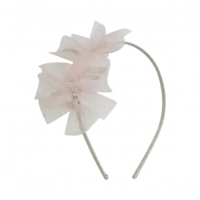Hairband Pink Tulle Details