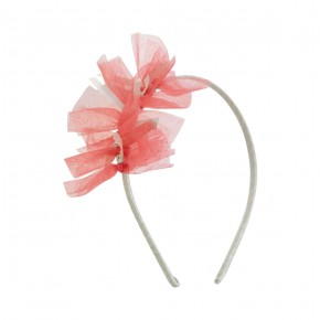 Hairband Coral Tulle Details