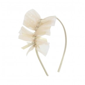 Hairband Champagne with Tulle Details
