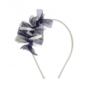 Hairband Navy with Tulle Details