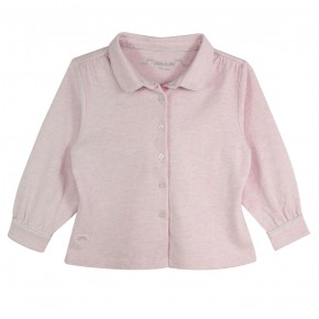 Girl Blouse Long Sleeves Pink