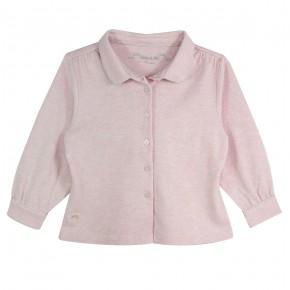 Girl Blouse Long Sleeves Pink