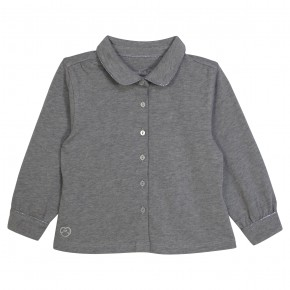 Girl Blouse Long Sleeves Grey