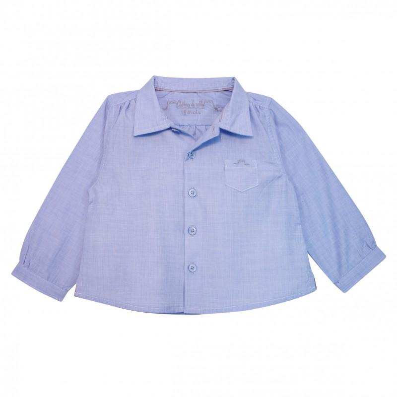 Baby boy shirt light blue for Baby boy blue shirt
