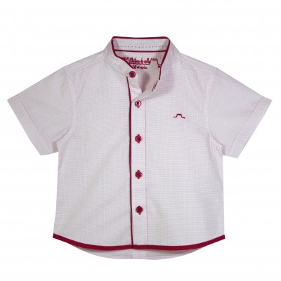 Boy Shirt with Mao Collar and red details