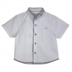 Boy Shirt with Mao Collar and grey details
