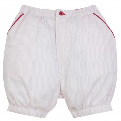 Baby Boy Jacquard Red Bloomer