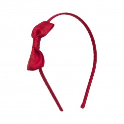 Girl Hair Band Red with Bow