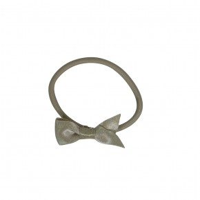 Girl Hair Elastic Champagne with Bow