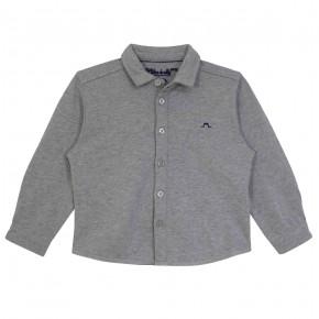 Chemise coton jersey gris